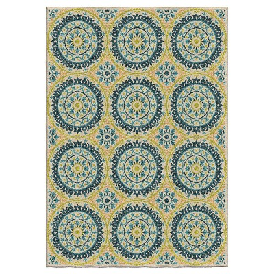 Orian Rugs Twirling Medallions Promise Indoor/Outdoor Area Rug