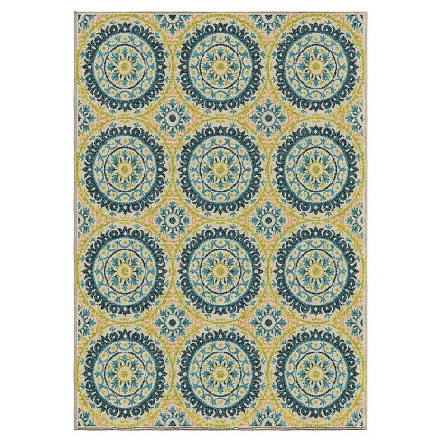 Orian Rugs Twirling Medallions Promise Indoor Outdoor Area Rug