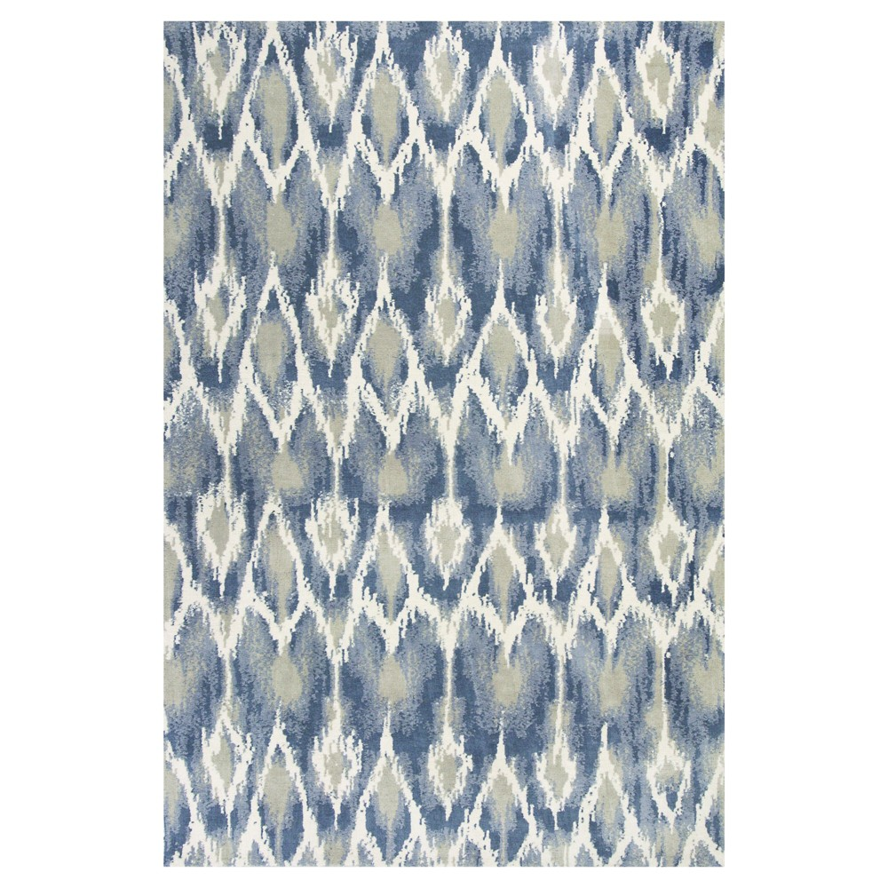 Ivory Tribal Design Tufted Area Rug 5'x7' - Kas Rugs, White