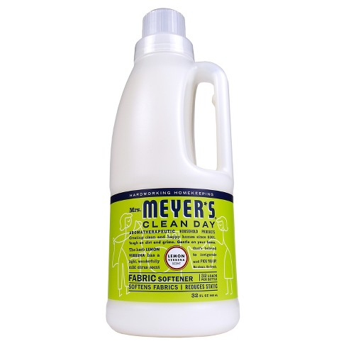 Mrs. Meyer's® Lemon Verbena Fabric Softener - 32 fl oz - image 1 of 3