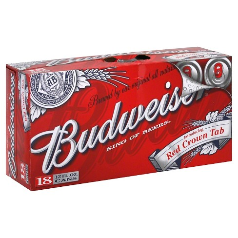 Budweiser Beer 18pk 12oz Cans