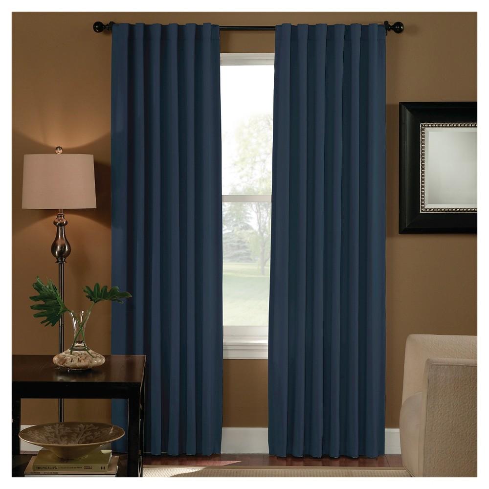 Curtainworks Saville Back Tab Room Darkening Curtain Panel - Navy (Blue) (95)