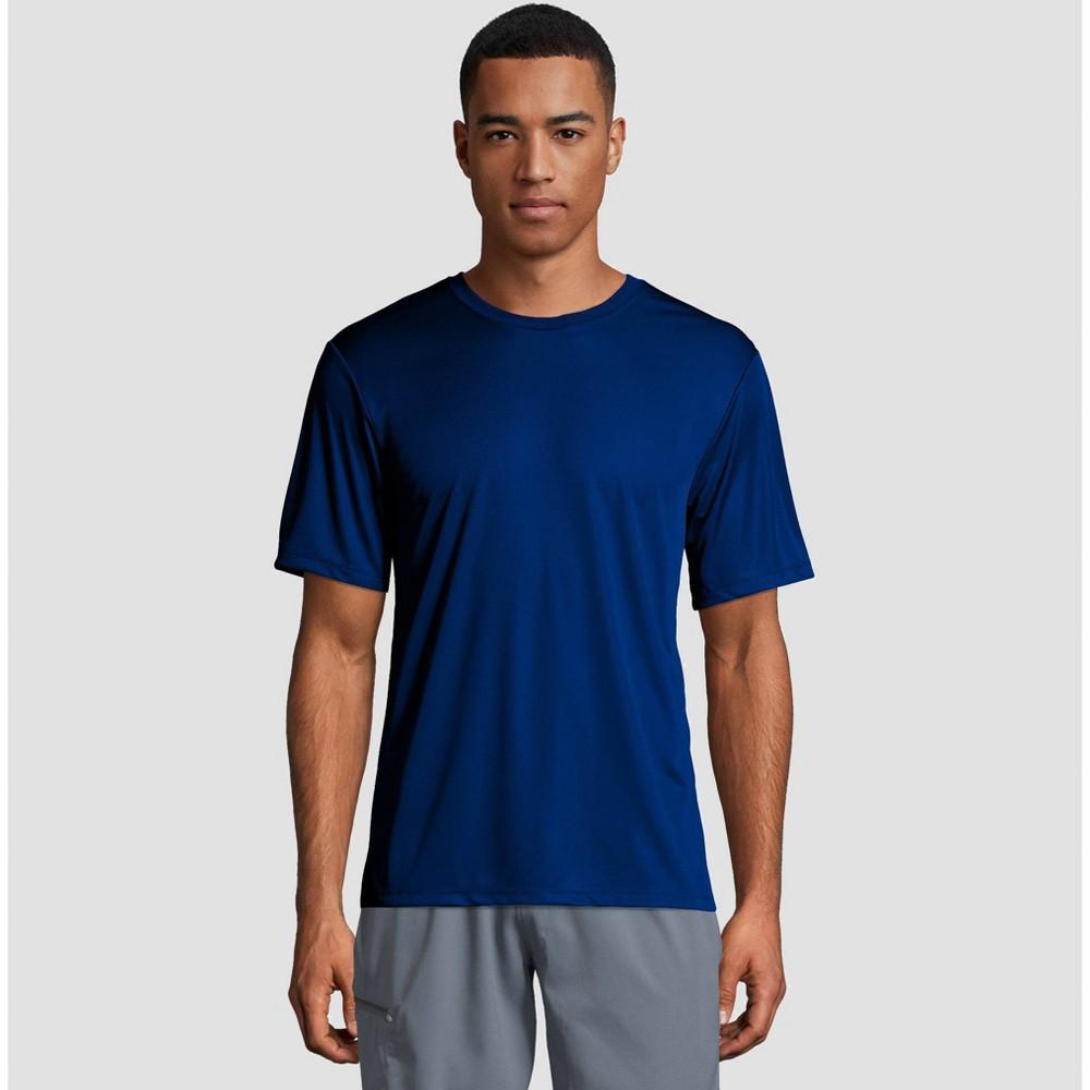 91402b86 Hanes Mens Short Sleeve CoolDRI Performance T Shirt Deep Blue XL Deep Blue
