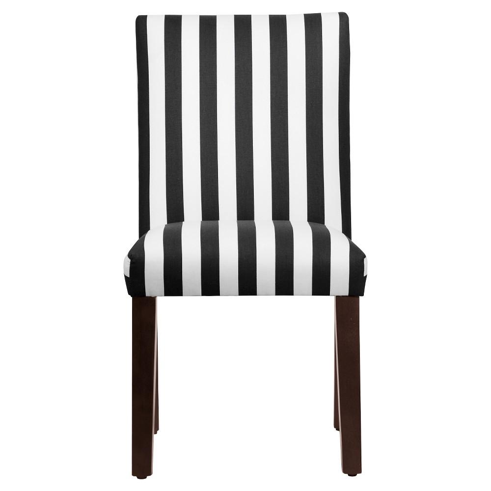 Printed Parsons Dining Chair White/Black - Threshold