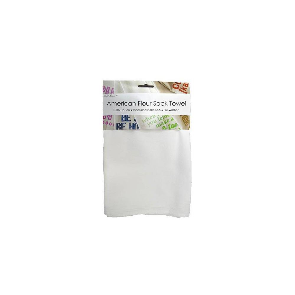 "Image of ""Craft Basics 29"""" x 36"""" 2pk American Flour Sack Towel, White"""