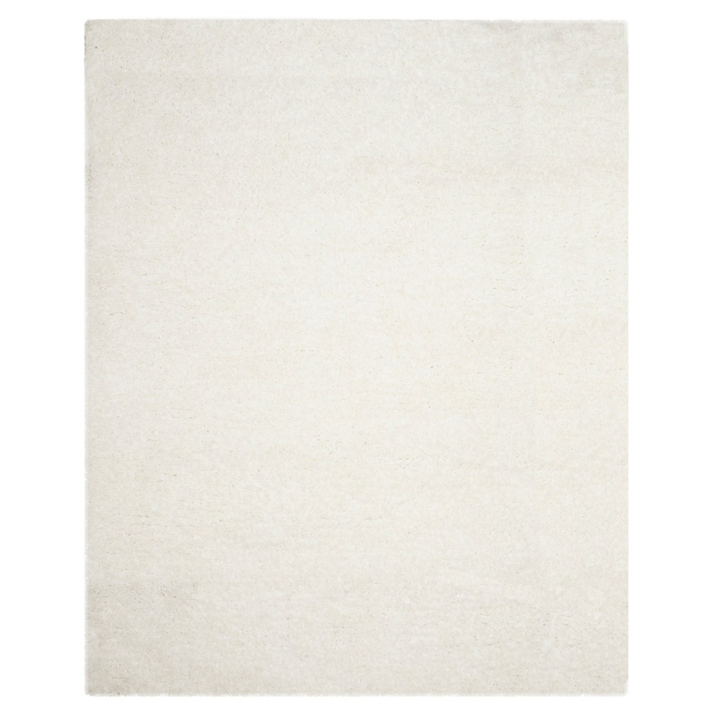 Reviews Ivory Solid Shag and Flokati Tufted Area Rug 5X8 - Safavieh