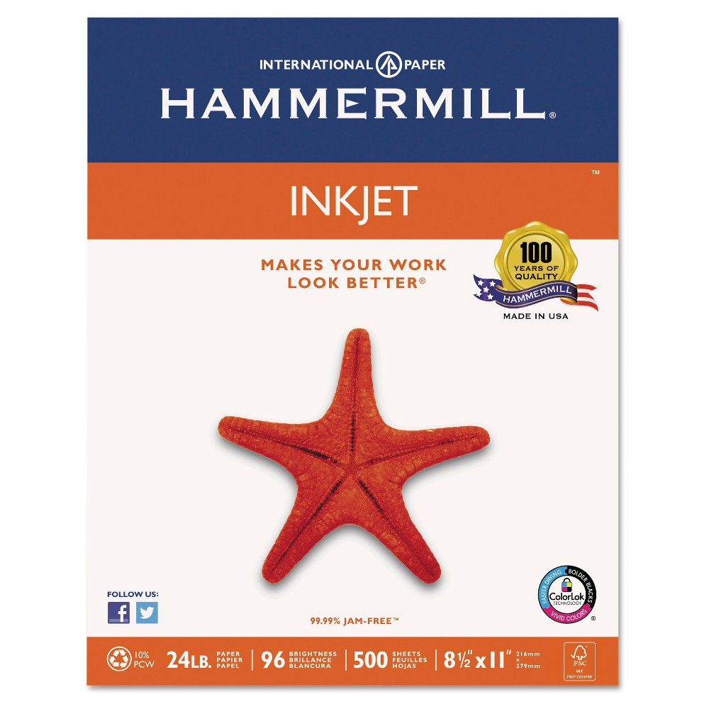 Image of Paper Hammermill White, printer paper