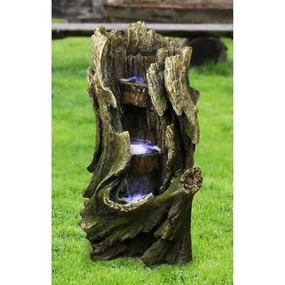 Cascading Creek Garden Fountain - Acorn Hollow