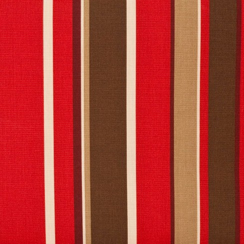 Outdoor Reversible Chaise Lounge Cushion Brown Red Fl Stripe Pillow Perfect Target