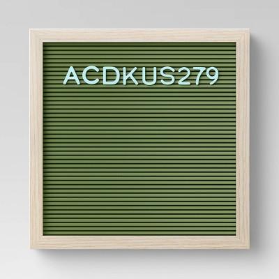 "12"" x 12"" Letterboard Dark Green - Room Essentials™"