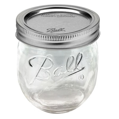 Ball 4ct 8oz Collection Elite Glass Jam Jar with Lid and Band - Regular Mouth