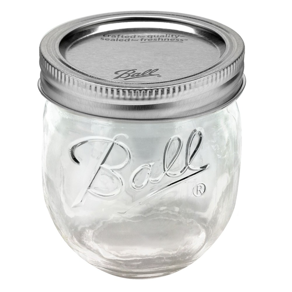 Image of Ball 4ct 8oz Collection Elite Glass Jam Jar with Lid and Band - Regular Mouth