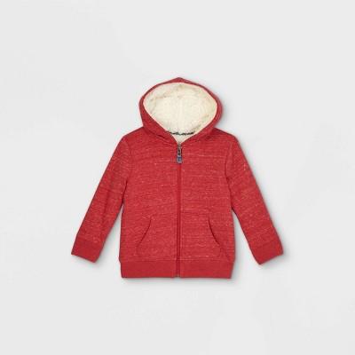Toddler Boys' Sherpa Lined Zip-Up Hoodie Sweatshirt - Cat & Jack™