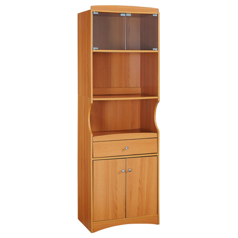 Traditional Microwave Cabinet - Cherry - Home Source Industries, Brown