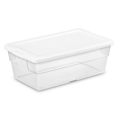 Sterilite 6qt Clear Storage Box White Lid