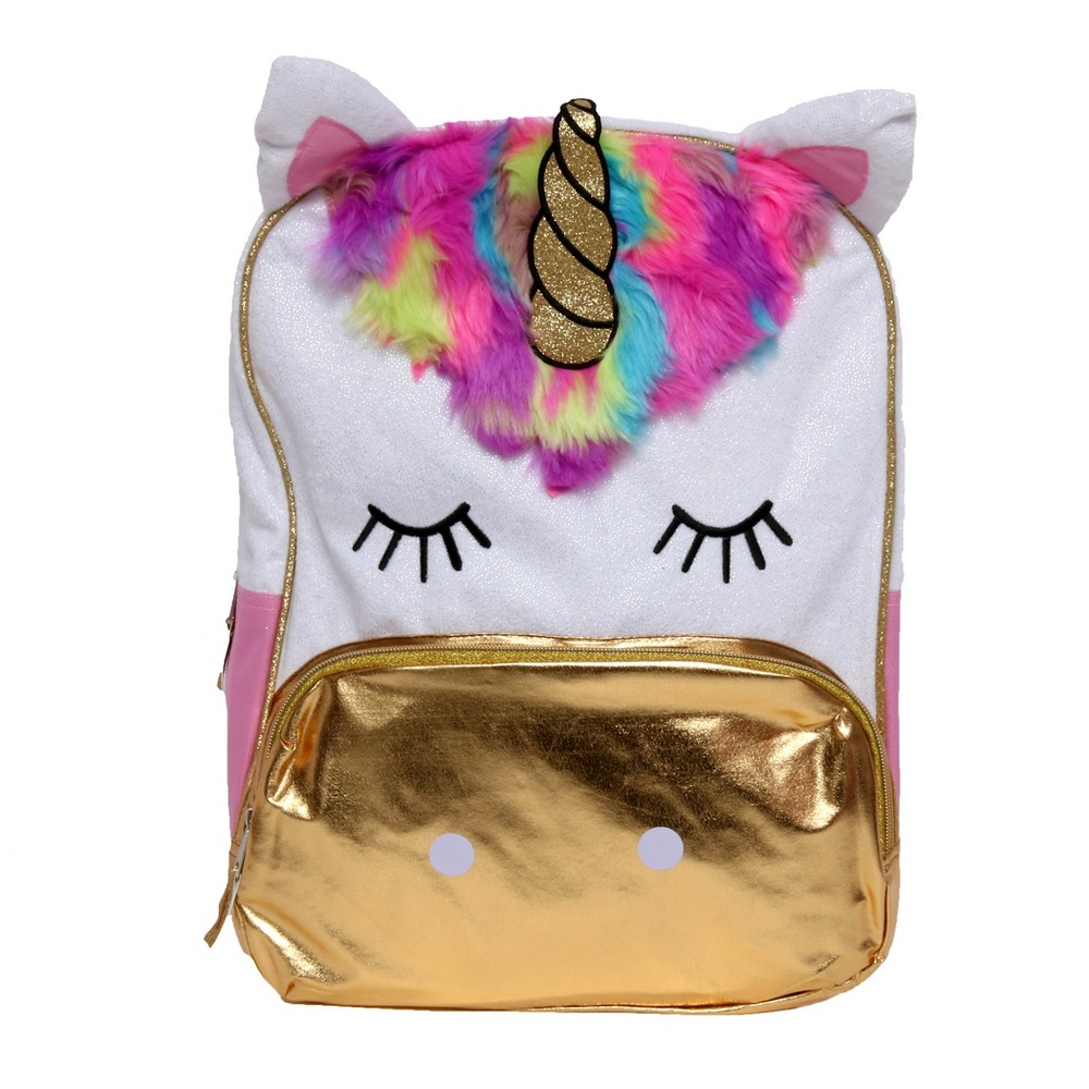 Fashion Daydream 16 Unicorn Backpack - White Your little one is going to be feeling magical going to school with this backpack. This backpack has everything your little one needs to start the school year off right. Slip a water bottle in the side pocket to make sure they stay hydrated all day long.Getting ready for school has never been so much fun! Color: White. Gender: Female. Pattern: Unicorn.