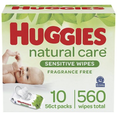 Huggies Natural Care Sensitive Unscented Baby Wipes - 560ct