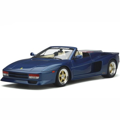 Ferrari Testarossa Koenig-Specials Spider Convertible Blue Sera Metallizzato Metallic 1/18 Model Car by GT Spirit