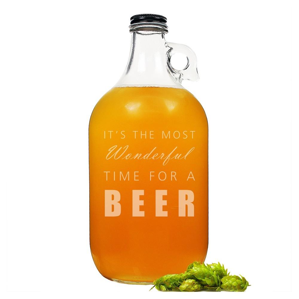 Image of Beer Growler, Clear, portable beverage servers