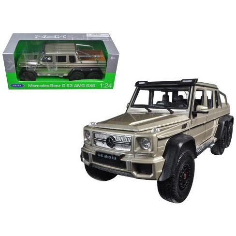 Mercedes G 63 AMG 6X6 Gold 1/24 Diecast Model Car by Welly - image 1 of 1