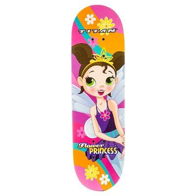 "TITAN 9272 Flower Princess Complete 28"" Girls' Pink skateboard"