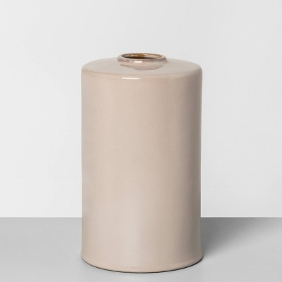 "10"" Ceramic Vase Taupe - Hearth & Hand™ with Magnolia"