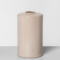 """10"""" Ceramic Vase Taupe - Hearth & Hand™ with Magnolia"""