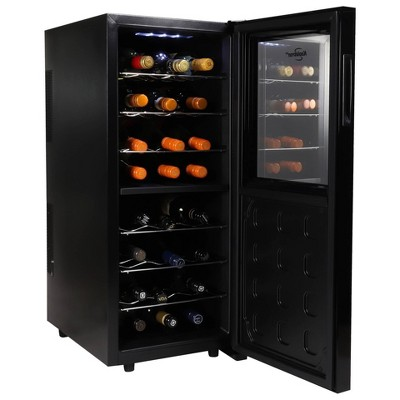 Koolatron 24-Bottle Dual-Zone Wine Cooler - Black