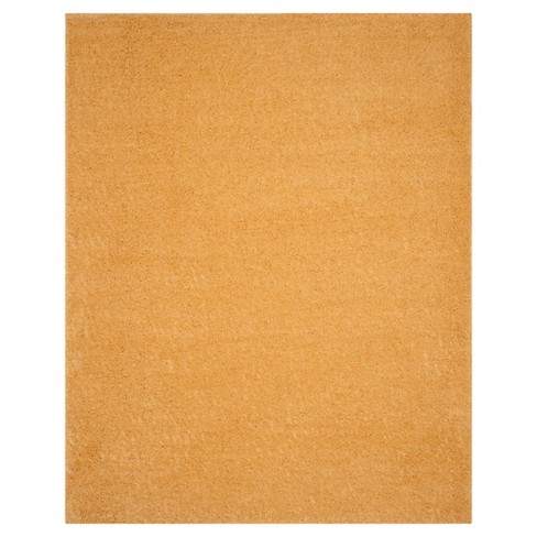 Gold Solid Loomed Area Rug 9 X12