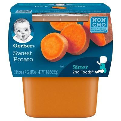 Gerber 2nd Foods 2pk Non-GMO Sweet Potato Baby Food - 8oz