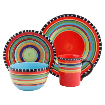Gibson Pueblo Springs 16pc Dinnerware Set