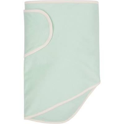 Miracle Blanket Swaddle Wrap - Green with Beige Trim