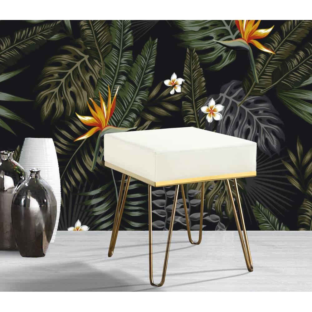 Catha Ottoman Cream - Chic Home Design was $149.99 now $104.99 (30.0% off)