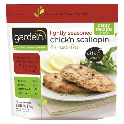 Gardein Lightly Seasoned Frozen Chick'n Scallopini   10oz by Gardein