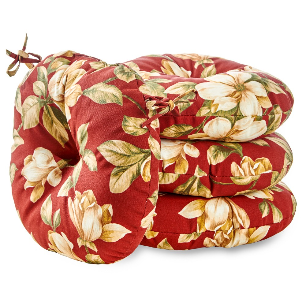 "Image of ""4pk 15"""" Roma Floral Outdoor Bistro Chair Cushions - Kensington Garden"""