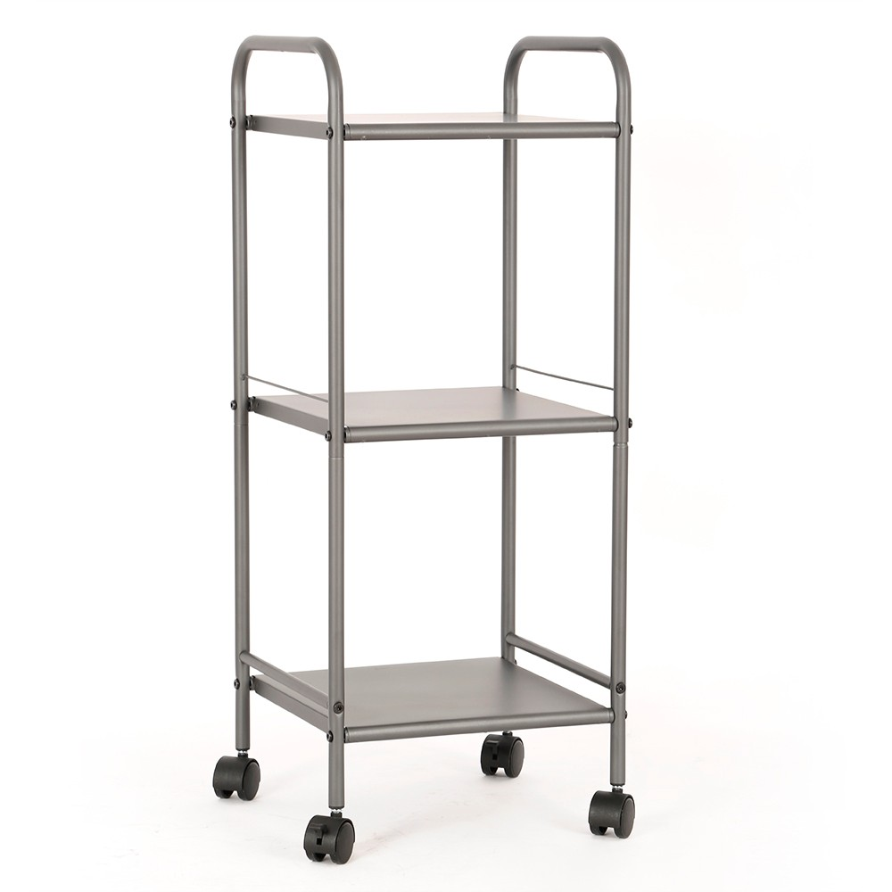 Image of 3 Shelf Utility Storage Cart Gray - Room Essentials