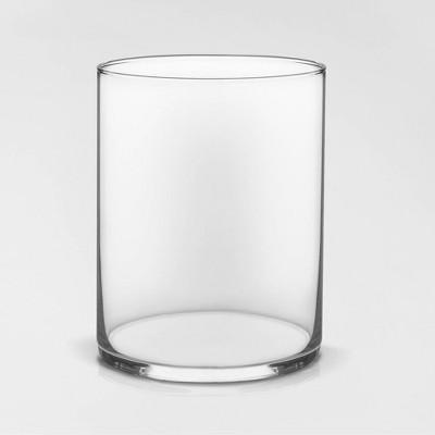 "8"" x 6.1"" Wide Cylinder Glass Vase Clear - Threshold™"