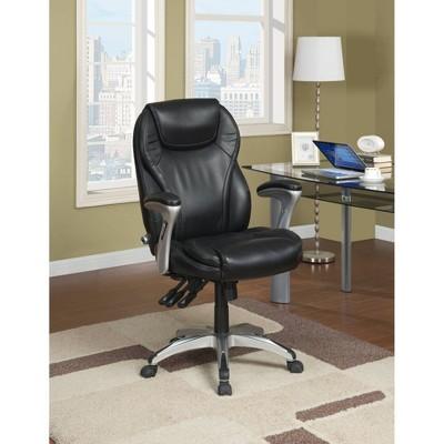 Ergo-Executive Chair Black Leather - Serta