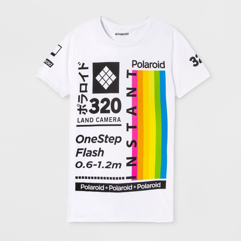 Men's Short Sleeve Polaroid Crew T-Shirt - Black M, White
