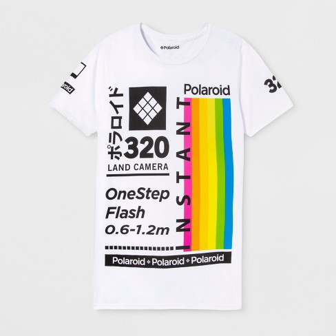 3d8df2dfafcc8a Men s Short Sleeve Polaroid Crew T-Shirt - Black   Target