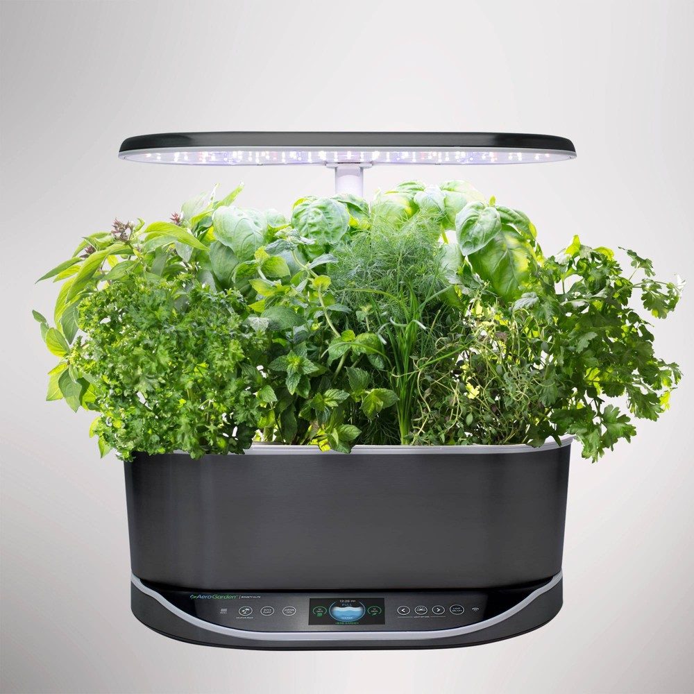 Image of Bounty Elite Platinum Planter Set Black - Aerogarden