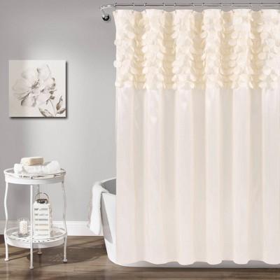 Lillian Shower Curtain Beige - Lush Décor