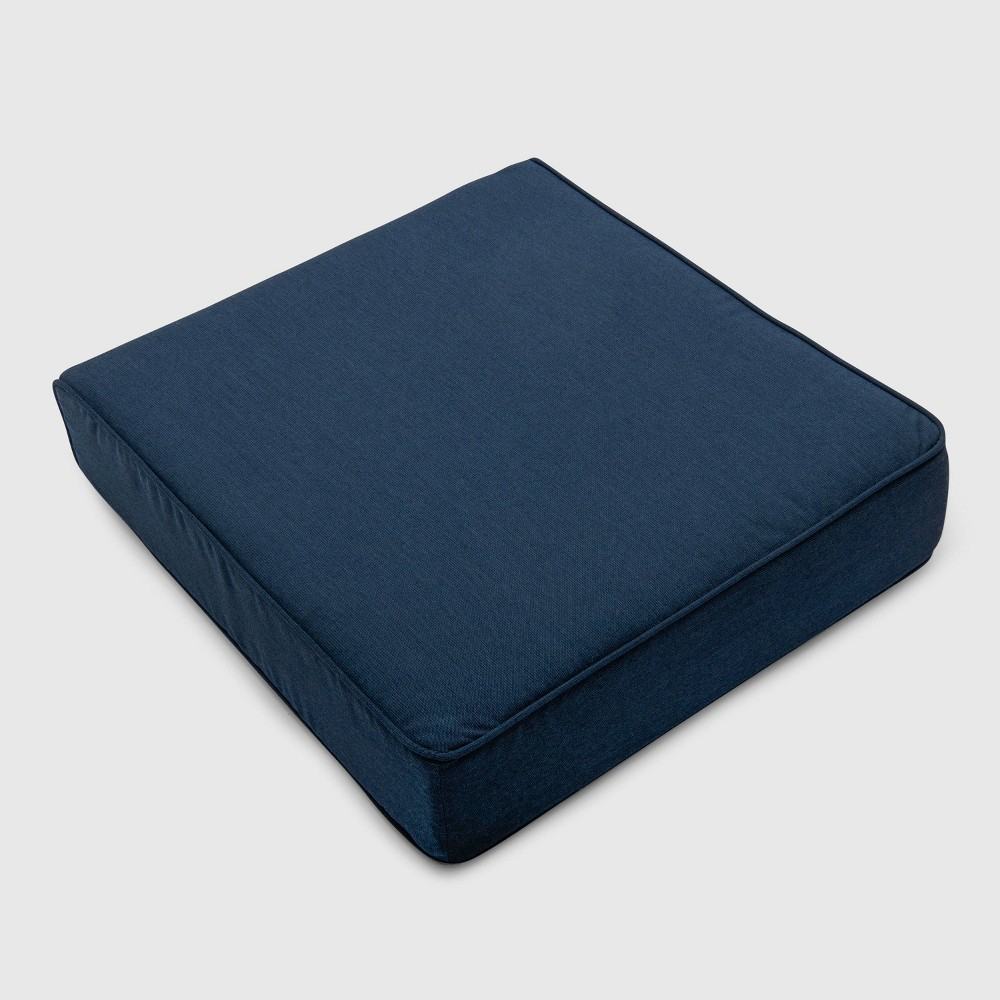 Outdoor Double Welt Deep Seat Cushion Sunbrella Spectrum Indigo (Blue) - Smith & Hawken