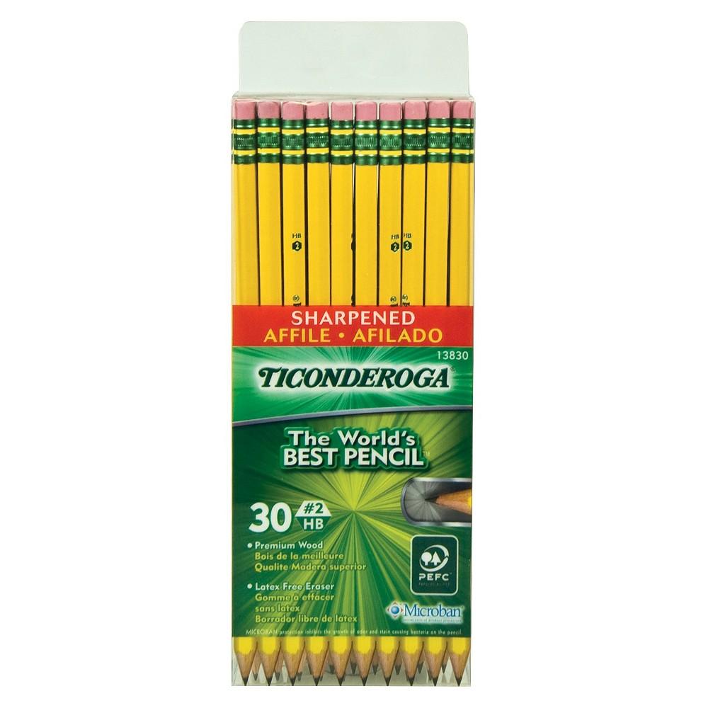 Image of 30pk #2 Pre-Sharpened Pencil - Ticonderoga
