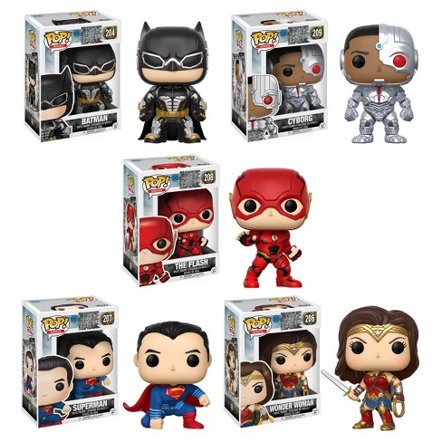 Funko POP! Movies DC Justice League Collectors Set: Batman, Aquaman, Cyborg, The Flash, Wonder Woman - image 1 of 6
