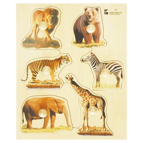 Edushape Large Knob Puzzle - Wild Animal 7pc - image 1 of 1
