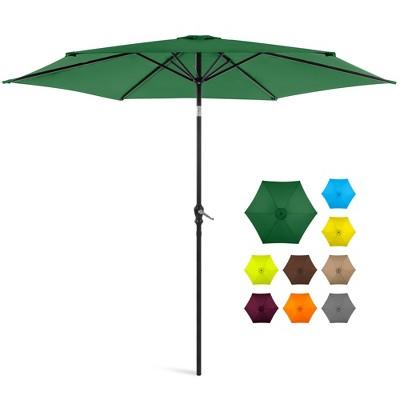 Best Choice Products 10ft Outdoor Steel Market Patio Umbrella w/ Crank, Tilt Push Button, 6 Ribs