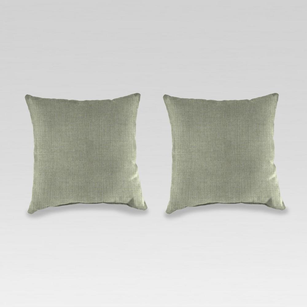 Outdoor Set of 2 Accessory Toss Pillows - Moss Green - Jordan Manufacturing