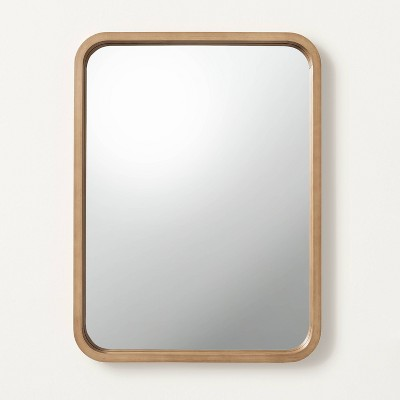 Rectangle Wood Framed Mirror Natural - Hearth & Hand™ with Magnolia