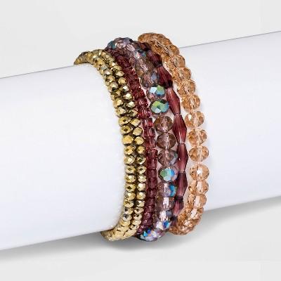 Beaded Stretch Bracelet Set 6pc - A New Day™
